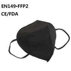 FFP2 얼굴 마스크 5플라이 안전 보호 먼지 탄소 마스크 3 색상
