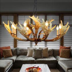 Deer Antler Real Cuerno lámpara de araña de lámparas de techo apliques de luz (WH-AC-07)