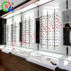 Visualizzazione di pavimentazione di legno di Eyewear con i dispositivi di legno ottici della memoria dell'armadietto di esposizione degli occhiali da sole dell'organizzatore di memoria degli occhiali dei Rohi