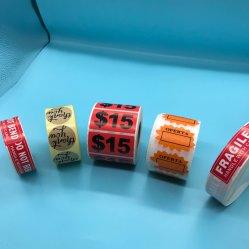 Silicone alimentos congelados a impressão de etiquetas, Leite garrafa de vidro Label