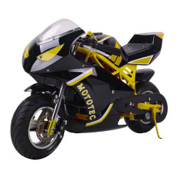Gaz Mototec 49cc Pocket Bike, jaune