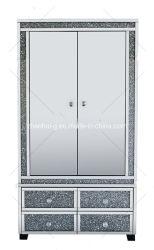 Современные Wxf-040 денежного лотка 2 большие двери особый блеск зеркальных хрустальное стекло Diamond шкаф Silver таблица подставка под телевизор шкафа электроавтоматики