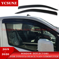 윈도우 디플렉터 도요타 Hiace Van Commuter Quantum 2019 2020 용 ABS 도어 바이저, 외부 액세서리 Ycsunz