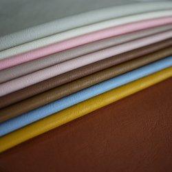 Última moda de cuero recubiertos de poliuretano PU 100% cuero sintético para cubrir el enlace de Material de PU