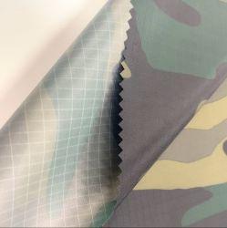 Unità di elaborazione stampata Camo materiale di Ripstop dell'impermeabile del tessuto del tessuto del Workwear degli abiti sportivi dell'indumento esterno impermeabile respirabile della tessile che ricopre il tessuto del taffettà del poliestere 100