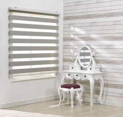 Rouleau de gris de qualité Premium Zebra Stores, facile à tirer les nuances vers le bas et jusqu'à tirer la chaîne
