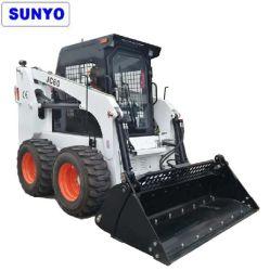Sunyo 브랜드 Jc60 모델 스키드 스티어 로더를 미니 휠 로더, 굴삭기 및 백호 로더로 활용할 수 있습니다