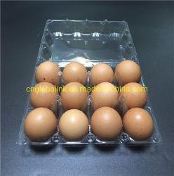 Plastikloch-Verpackung- der Eierspannkörbe des ei-Tellersegment-Ei-Kasten-12 12 Zellen