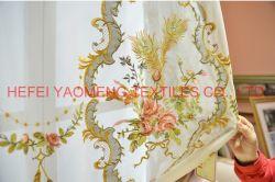 Luxuoso Bordados Rococó Malha Italiana Royal cortinas