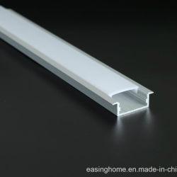 التركيب المجوف Alph001 CRI>90 LED الألومنيوم الشكل مع 2835MD 3000-6500K 240LED / M LED شريط الضوء الخطي