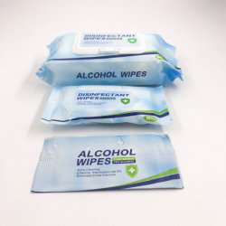Toalhetes Álcool antibacteriana, lado do Higienizador UV tecido molhado 10PCS por saco