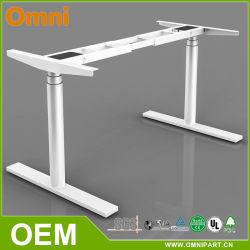 2 모터는 전기 두 배 조정가능한 책상 3개 부품 사무용 가구 고도 편든다