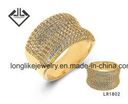 anello di lusso dei monili d'argento di modo per le donne in monili dell'argento sterlina 925