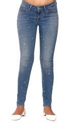Il denim di Elastan del cotone di modo ansima le donne/i jeans scarni denim delle signore