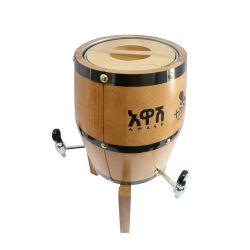 Dispensador de Cerveza de barril de madera personalizado Torre whiskey cerveza, jugos de frutas con tres grifos