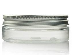 25ml PET transparent bocal cylindrique droite & 48mm en aluminium Cap