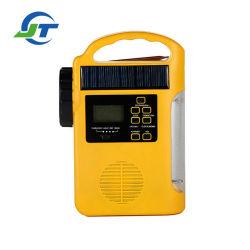 太陽動力を与えられた再充電可能なラジオLEDの懐中電燈はランプのダイナモのラジオの緊急時のランタンを読んだ