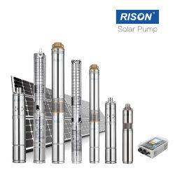 強いステンレス鋼3インチの太陽ポンプBomba Pompeの無線水位の探知器のアクセサリの太陽電池パネルの通風器のコントローラの保証3年の