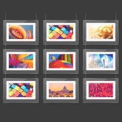 Aiyos nouvelle boutique de 10 pouces la pendaison de la fenêtre Boîte à lumière acrylique lecteur LCD