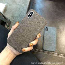 Textura de tela suave cubierta Teléfono Caja de TPU para iPhone