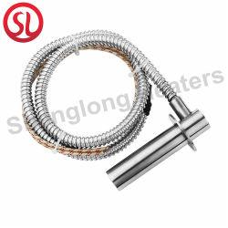 Cartucho de Eléctrica Industrial el uso del calentador de cable de Teflón con tubo flexible de acero inoxidable