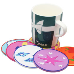 Oferta promocional de plástico/borracha de silicone//capa de PVC maleável Coaster para chá ou café