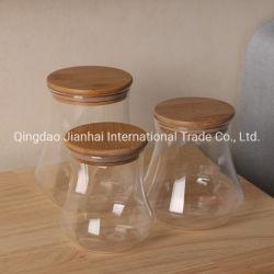 Kurzer Haushalts-Speicher-Glastafelgeschirr-Flaschen-Glas