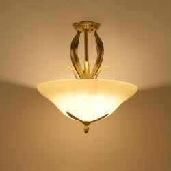 Америки простой потолочный подвес в проходе чистой меди люстра на потолке лампы