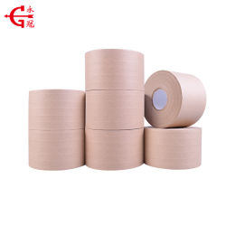 El mejor venta de papel Kraft reforzado con fibra de alta calidad con una cinta de goma
