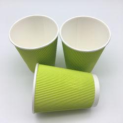 La couleur verte Parti jetables ondulation de la Coupe du mur coupe du papier