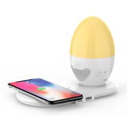 3 в 1 лампа зарядного устройства с беспроводной связи Bluetooth и за любезные слова в ночное освещение