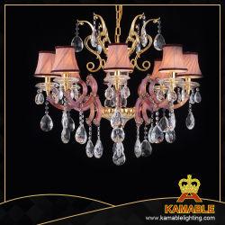 Queda de cristal de luxo com lâmpada de tecido Sombra Lustre 120688-8(L)