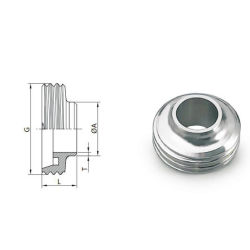SS304/316L'Union sanitaire Type de tube de verre de regard en verre