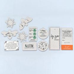 맞춤형 스페셜 쉐이프 에코 친화적 플랜트형 종지, 웨딩 액세서리 시드 태그, 비즈니스 시드 카드, 탕카이 카드