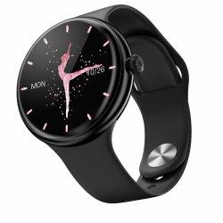 Senhora elegante relógio inteligente com discagem Bluetooth / Chamando, locais de reprodução de música, Música conectada ao auscultadores Tws Ciclo fisiológico Fêmea