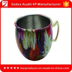 Taza de acero inoxidable con logo personalizado de impresión a todo color