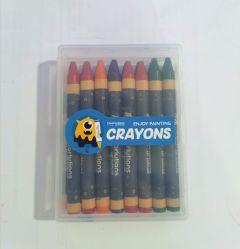 Nuevo diseño 16/18/24pcs crayón con caja de plástico impreso el logotipo personalizado lápices de colores