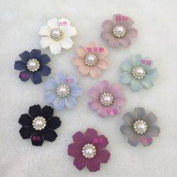 DIY Handmade Fashion tissu décorative soie artificielle rose fleur avec Pearl dans le centre