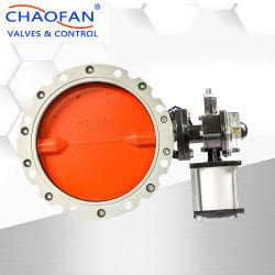 Лучшее качество Chaofan двумя фланцами пневматического пыли в виде бабочки для конкретного предприятия с концевой переключатель заслонки смешения воздушных потоков и электромагнитного клапана