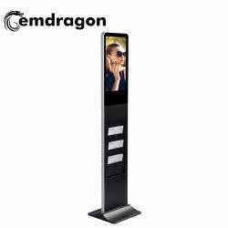 Brochura de apresentação de Publicidade de 21,5 polegadas Holderad Player Standingice piso gelado Telas de publicidade digital quiosque para venda de sinalização digital LCD com a norma ISO9001