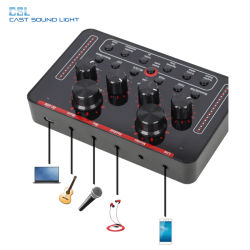 専門家USBのパソコンの携帯電話のための内部オーディオインターフェイスの生きているスタジオ記録V8のサウンドカード