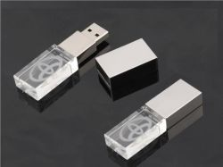 Freies Firmenzeichen-voller Kapazität 4GB 8GB 16GB Kristall-USB-Stock