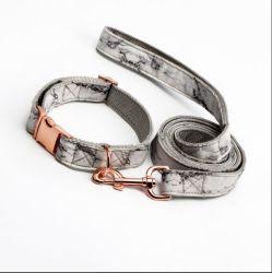 Tejido de algodón y tela de Material para Perro Collar y correa de diseño personalizado