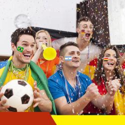 Bandeira Nacional de Futebol Soccer tatuagem temporária face autocolante do Ventilador Viscoso