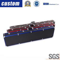 Kundenspezifischer Aluminiumgitarren-Gewehr-Gewehr-Kasten mit Farben-Zoll für Flug-Laptop-Kasten des Hilfsmittel-DVD CD
