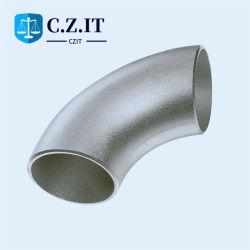 공장도 가격 ASME 차원 DIN 1.5D 3D Nace ASTM A403 개머리판쇠에 의하여 용접되는 Sr/Lr 304/316 긴 반경 이음새가 없는 스테인리스 관 팔꿈치