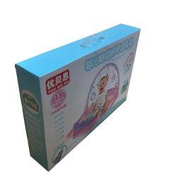 제조자 주문 로고는 플라스틱 손잡이를 가진 재생한 골판지 아기 피아노 장난감 종이 선물 포장 판지 상자를 인쇄했다