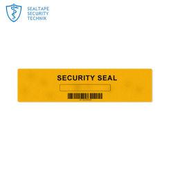 Embalagem inviolável papel A4 Amarelo Adesivo de Segurança sobre a garantia do passaporte Void Abrir etiqueta do Parafuso