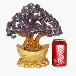 Лечение Reiki Lucky Money кристально чистое дерево драгоценных камней орнамент Fengshui ручной работы