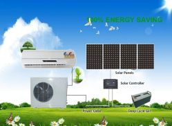 L'enregistrement de 50 % d'énergie 12000BTU climatiseur solaire hybride du circuit de refroidissement 9000BTU---24000BTU